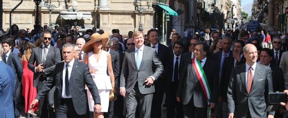 Palermo, i reali di Olanda visitano la città