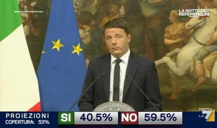 Referendum, stravince il No: Renzi annuncia le dimissioni in tv