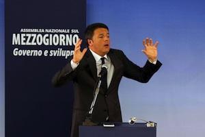 Renzi: Le aziende che assumeranno al Sud nel 2017 avranno la decontribuzione totale