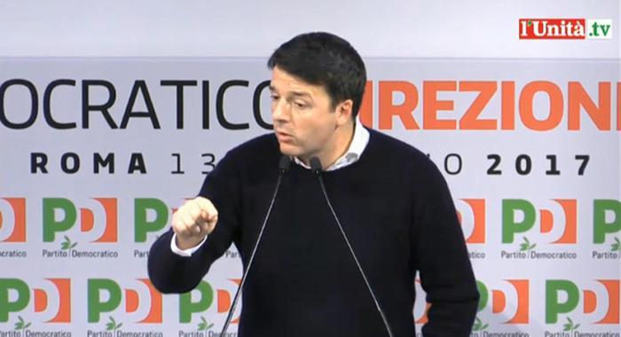 Direzione Pd, Renzi annuncia dimissioni e lancia il congresso prima del voto