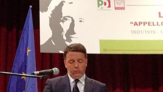 """Renzi : """"Qui a Caltagirone trovo un pezzo delle radici e della storia del Pd"""""""