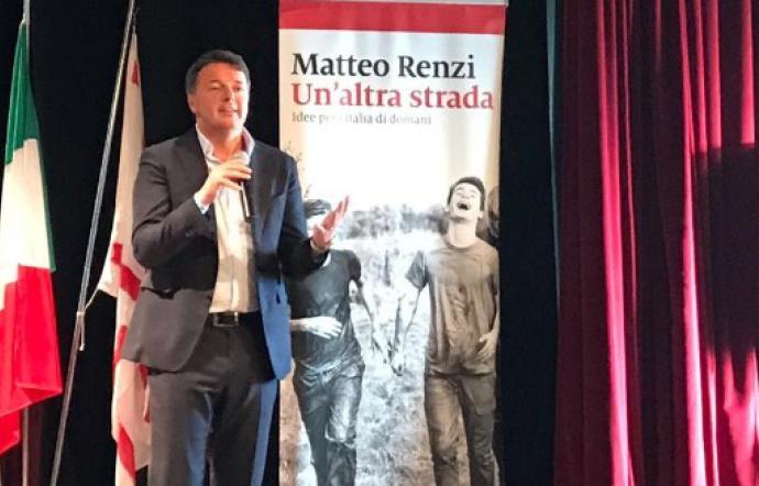 """Renzi a Palermo per il suo libro: """"Mai accordi con i 5 Stelle, si vince al Centro"""""""
