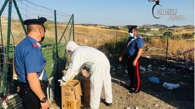 Canicattì, trovati rifiuti sanitari appartenenti a persone positive al Covid