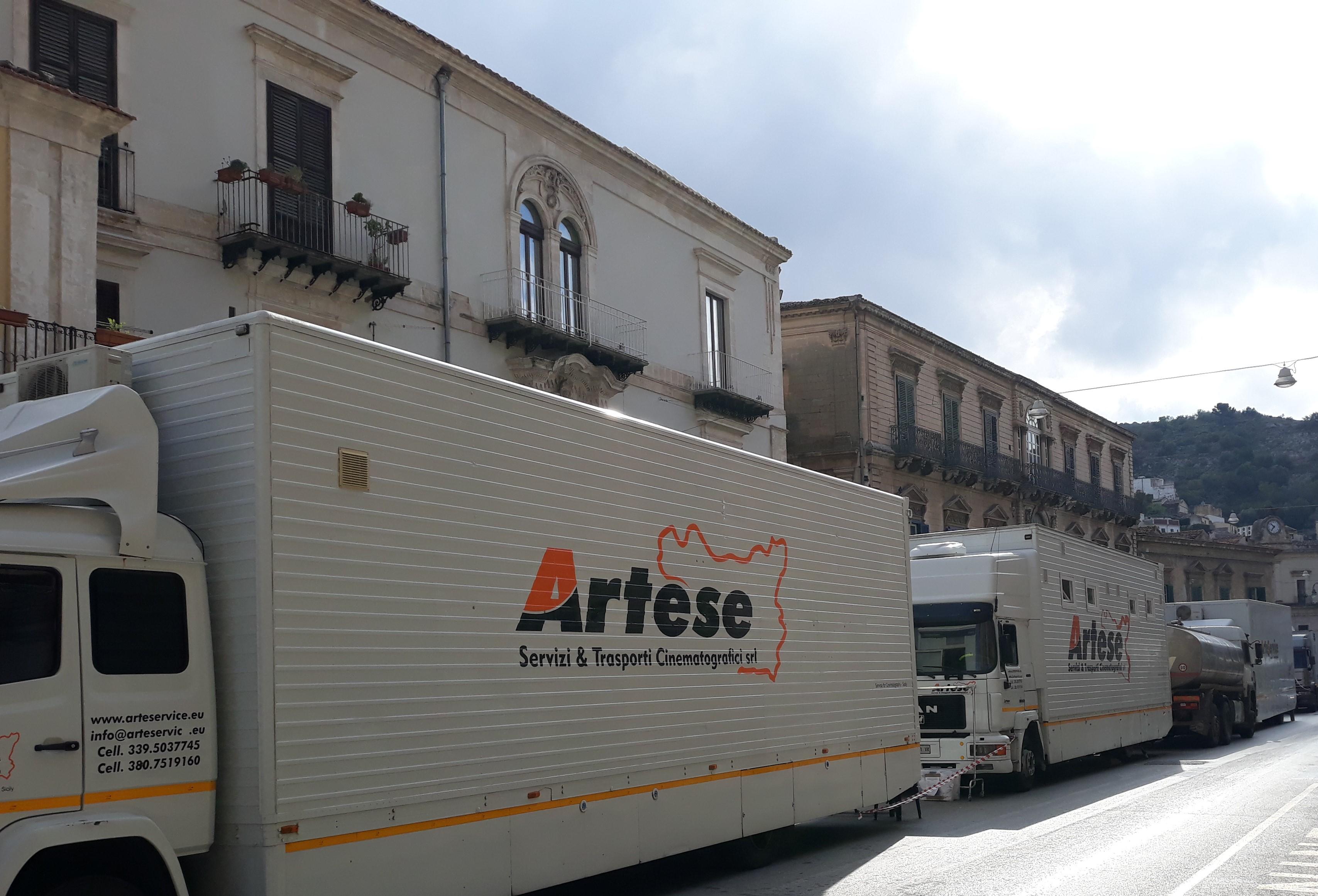 """Modica, a Palazzo Grimaldi girate diverse scene de """"La concessione del telefono"""""""