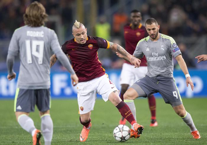 Roma troppa ingenua contro il Real Madrid, vincono gli spagnloli ( 0 - 2)