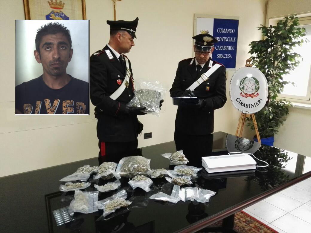 Fiumi di droga a Floridia, gli trovano in casa 3 chili di marijuana messa sottovuoto