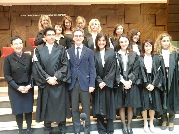 Al tribunale di Gela si insediano 8 nuovi magistrati, 7 sono donne