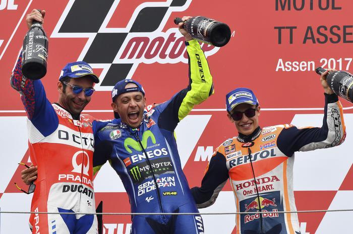 Moto GP, Assen: Zarco vola sulla pioggia. Rossi quarto