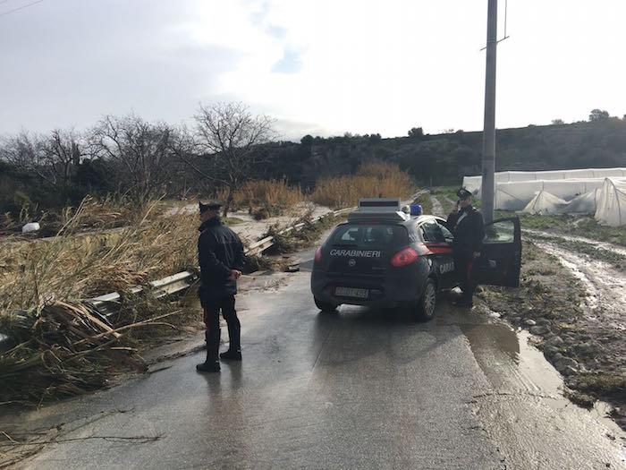 Maltempo nel Siracusano, allagamenti e strade danneggiate