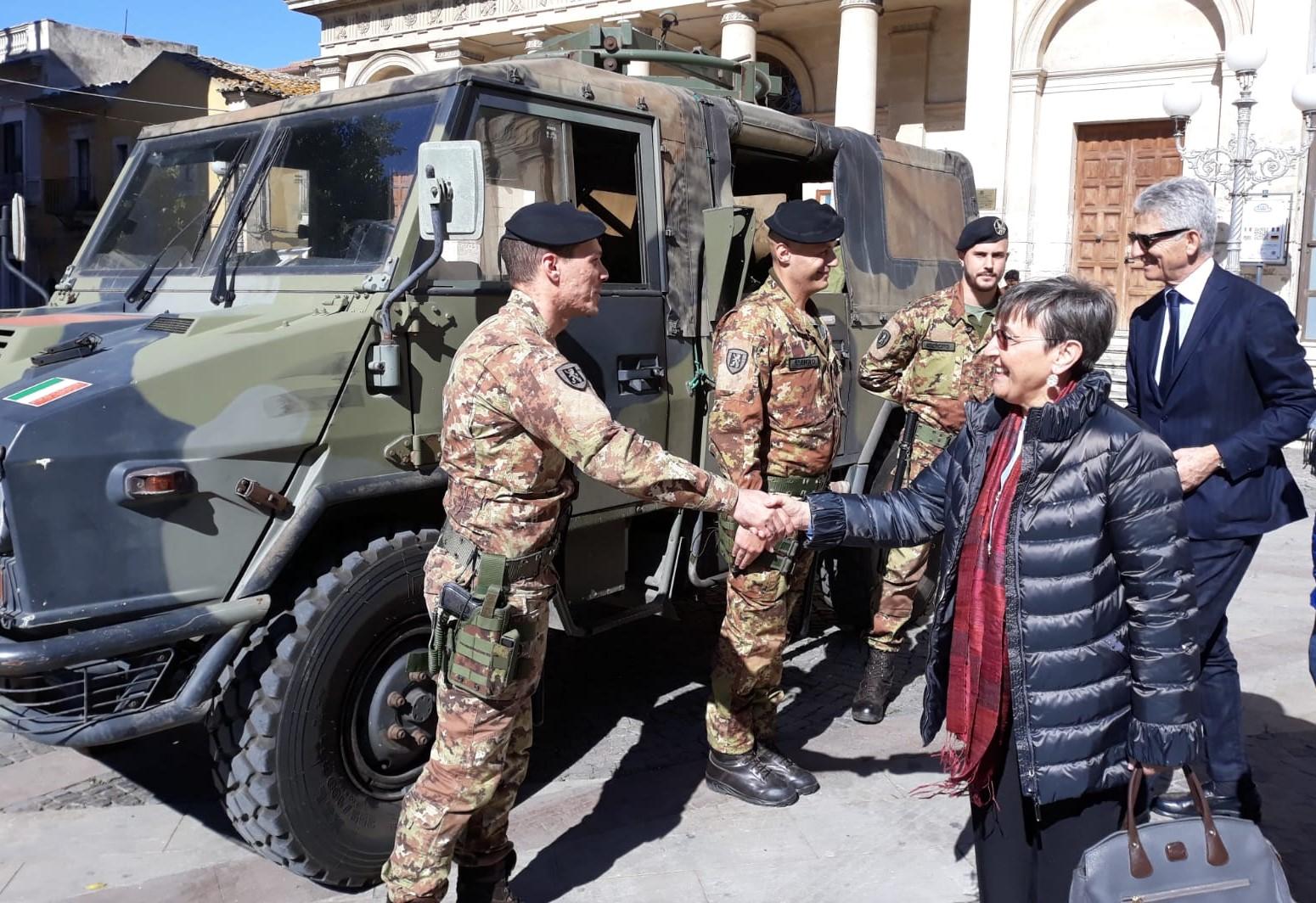 Vittoria, la Commissione straordinaria incontra i militari dell'Esercito