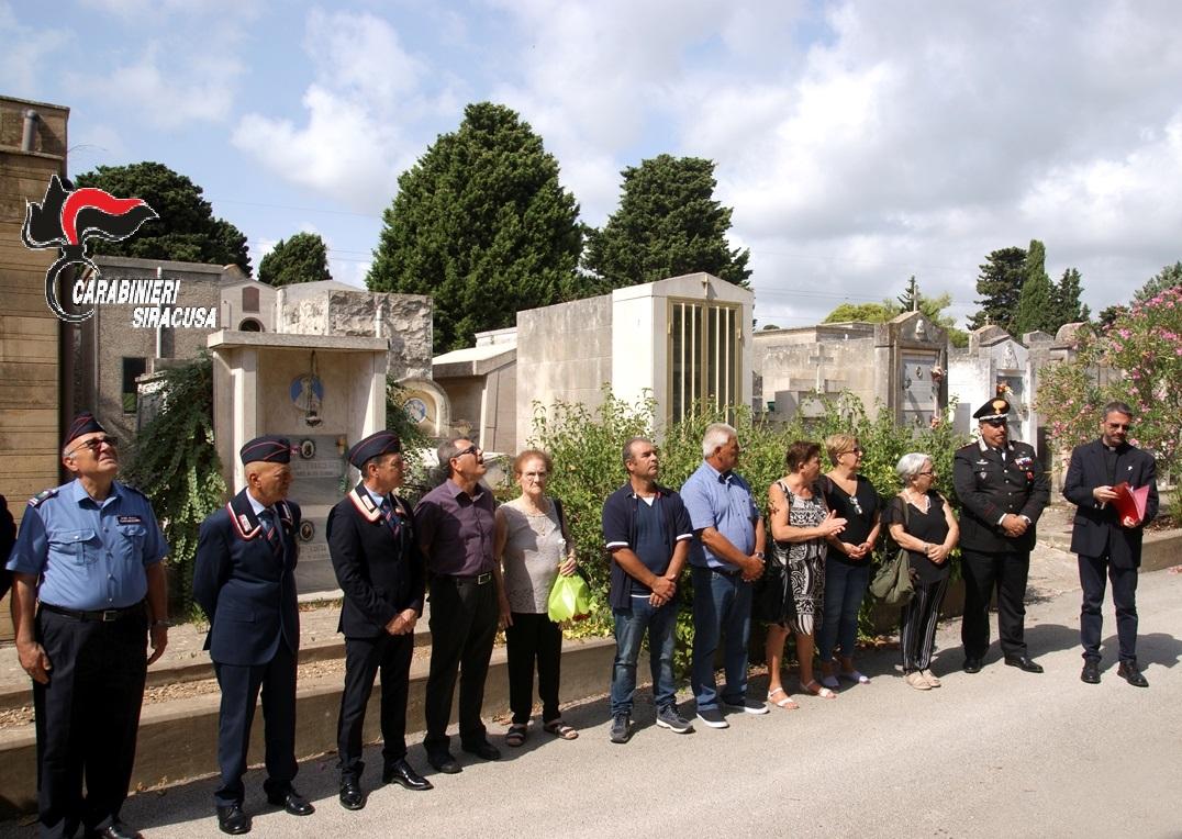 Siracusa, commemorato carabiniere - eroe 73 anni dopo la  sua morte