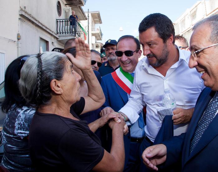 """Salvini a San Luca: """"la mafia non ha diritto di esistere"""""""