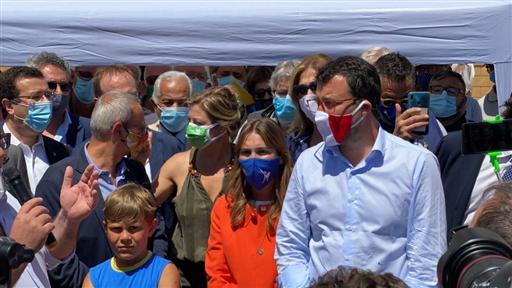 Matteo Salvini (Lega) a Palermo: la mafia si sconfigge dando lavoro