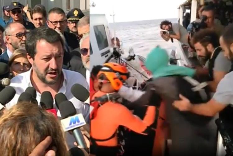 Open Arms, Salvini raccoglie l'invito di Conte: sì allo sbarco di presunti minori a Lampedusa