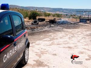 Appiccò il fuoco tra Modica e Ragusa, scoperto e denunciato il piromane