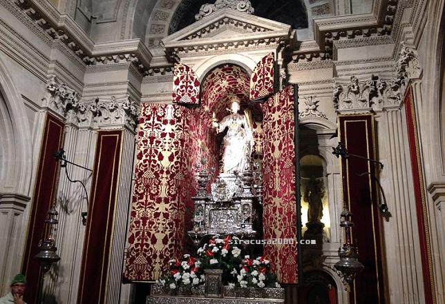 Siracusa, domani l'esposizione ai fedeli del simulacro di Santa Lucia