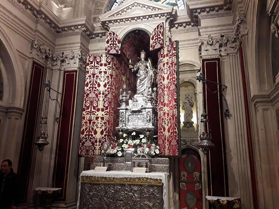 Dedicazione della Cattedrale di Siracusa, in esposizione Santa Lucia