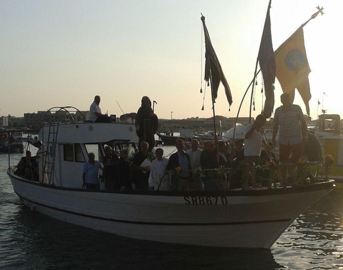 San Francesco a Marzamemi, processione  a mare  in forma ridotta