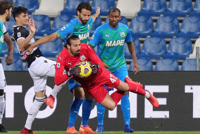 L'Udinese ferma la corsa del Sassuolo: l'anticipo finisce in parità (0-0)