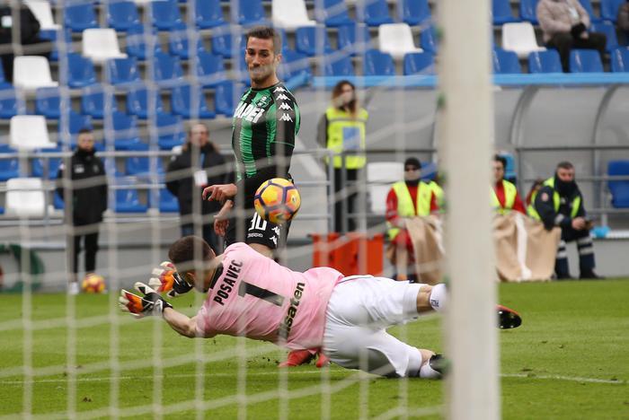 Il Palermo si illude in avvio, poi è una disfatta: il Sassuolo vince con un poker ( 4 -1)