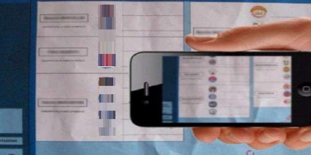 Castelvetrano, denunciata per avere fotografato scheda elettorale