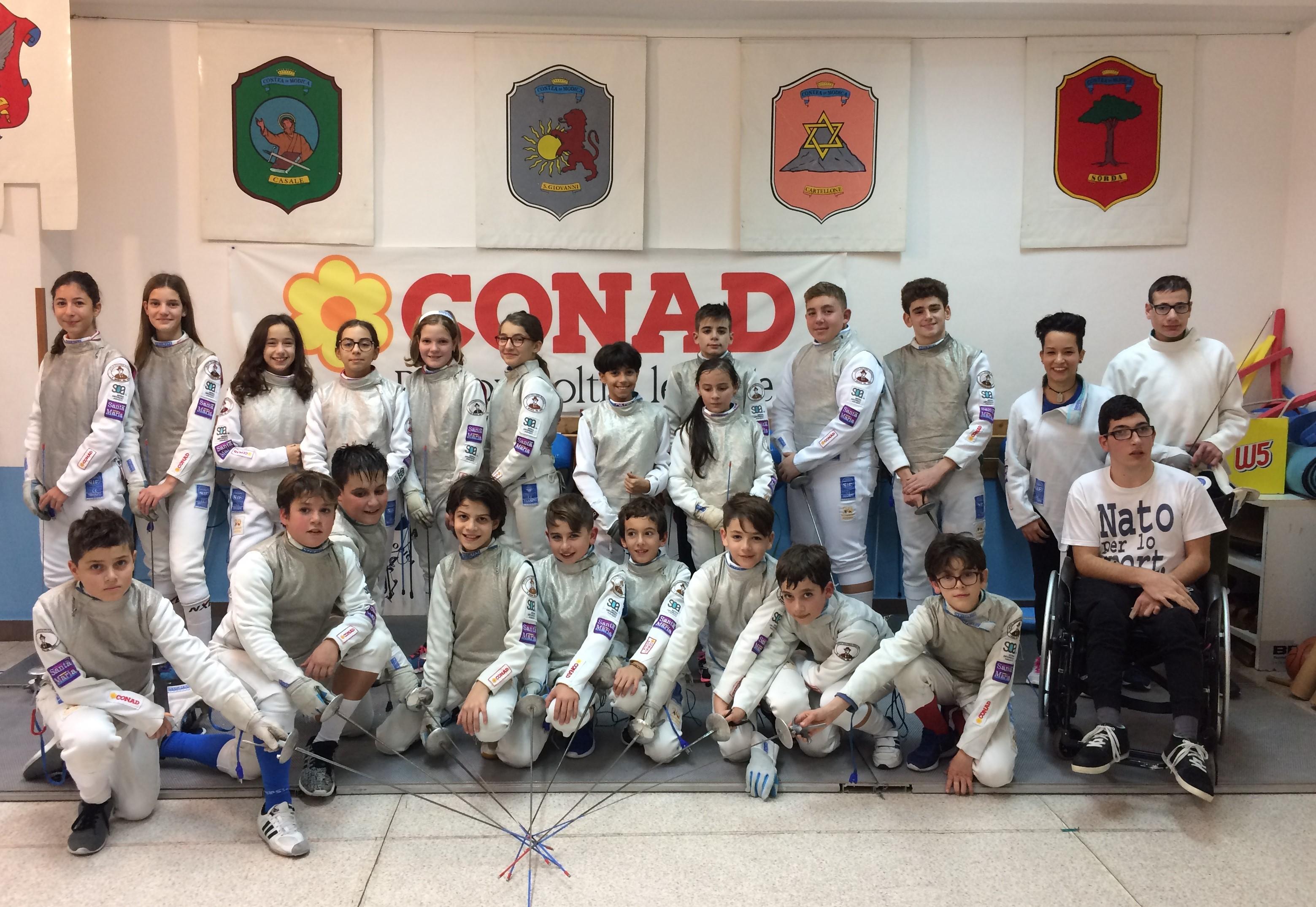 """Scherma Modica, ad Ancona il """"Grand prix Kinder + sport"""" di fioretto"""