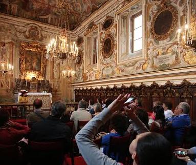 Palermo, apertura straordinaria della Cappella delle Dame: ospite Enrique Vargas