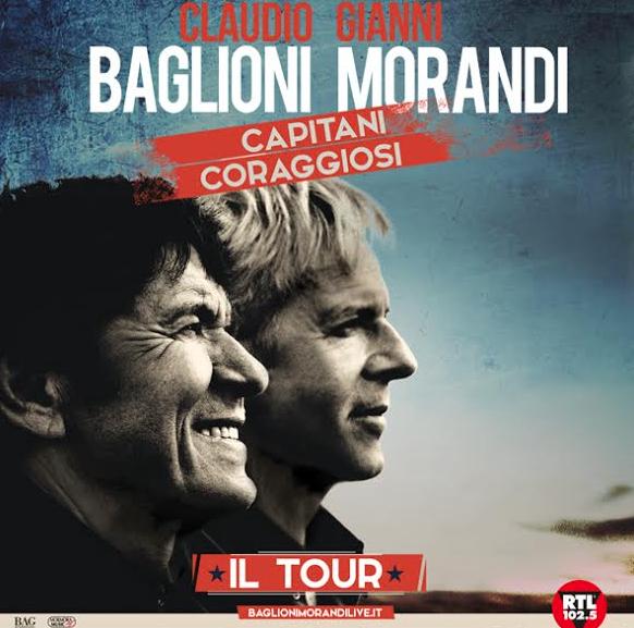 """Acireale ospiterà """"Capitani coraggiosi il Tour"""" di Claudio Baglioni e Gianni Morandi"""