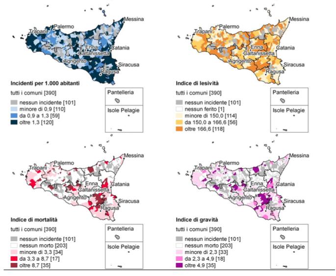 Istat, incidenti stradali: Siracusa e Ragusa le province a più alto tasso di mortalità in Sicilia
