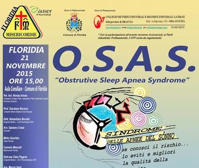 """Floridia, la Misericordia organizza un convegno su """"Sindrome delle Apnee Notturne"""""""
