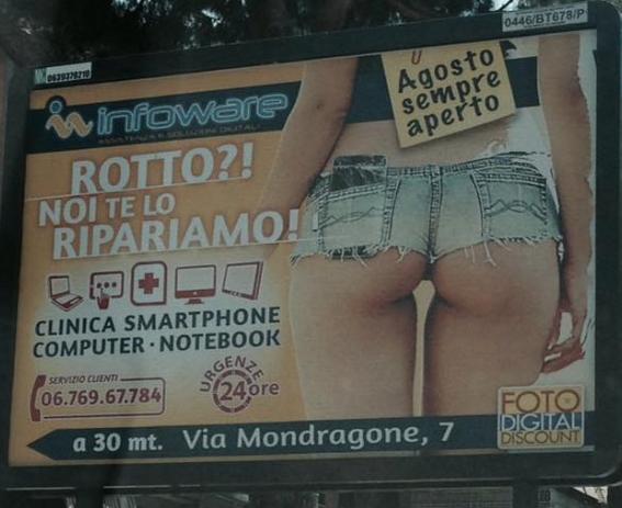Catania, il manifesto pubblicitario sessista che ha fatto infuriare il sindaco