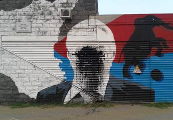 A Catania imbrattato murales Cannavò, Ussi: idiozia senza limiti