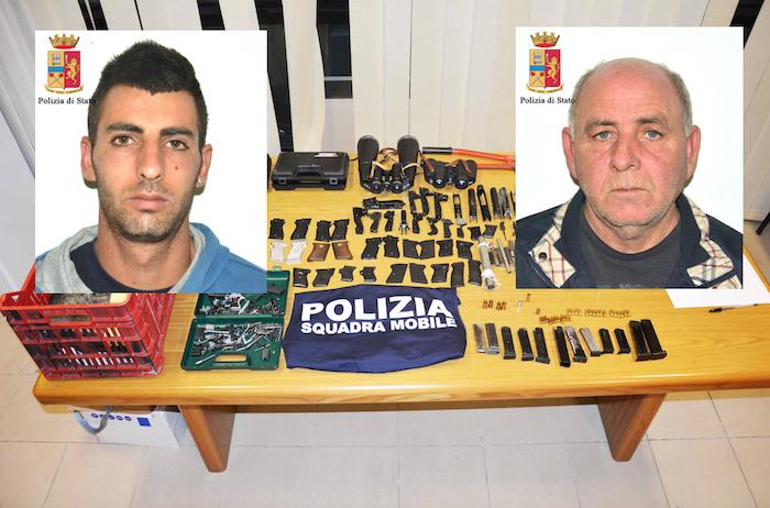 Vittoria, scoperta dalla polizia una fabbrica clandestina di armi: 2 arresti
