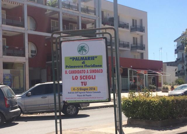 """Primavera Floridiana indice le sue """"Palmarie"""" per il candidato a Sindaco"""
