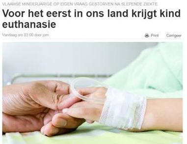 Primo caso di eutanasia su un bambino in Belgio, i vescovi: la vita è sacra