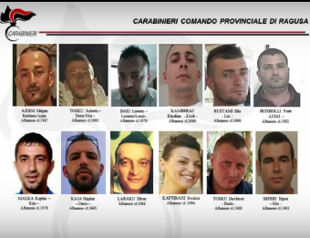 Droga a fiumi per le discoteche ragusane, 21 arresti: 16 in carcere