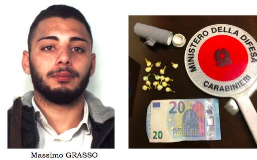 Catania, nascondeva cocaina sotto un cassonetto dei rifiuti: arrestato