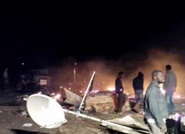 Scoppia un incendio nella baraccopoli di Foggia: due morti