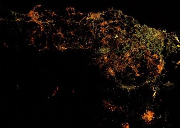 Eruzione dell'Etna fotografata di notte dalla stazione spaziale