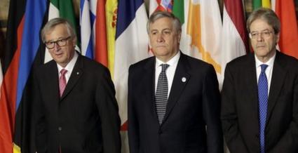 """Roma blindata per i 27 leader europei, Junker: """"Dobbiamo mettere il nostro impegno per un'Unione indivisibile"""""""