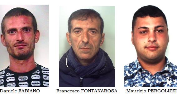 Servizio anticrimine tra Catania e Misterbianco: tre gli arrestati