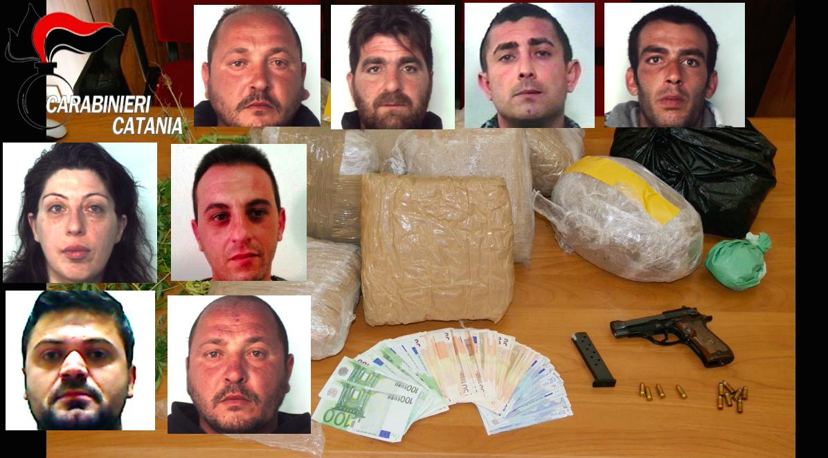 Droga a Catania, nove arresti contro i clan mafiosi