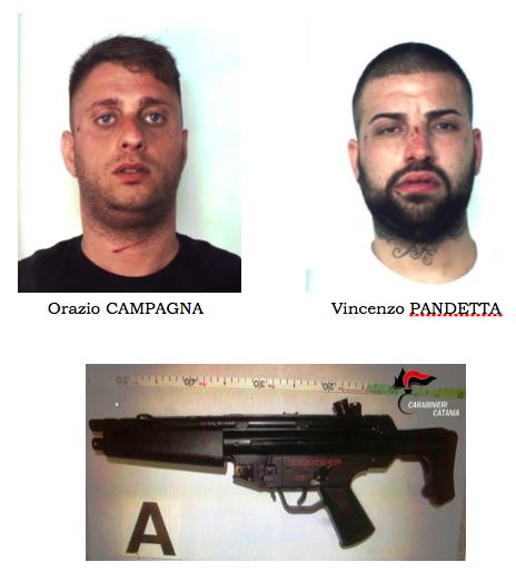 Catania, non si fermano all'alt: inseguiti e trovati con un mitra