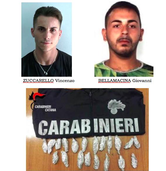 Catania, nascondono droga nella cavità di un muro: arrestati
