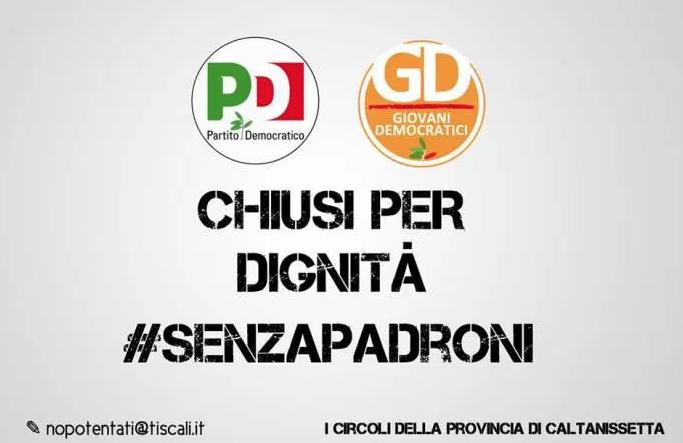 """Bufera nel Pd di Caltanissetta, Circoli """"chiusi per dignità"""""""