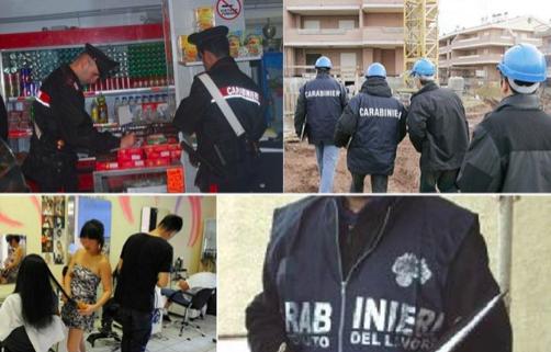 Lavoro nero a Ragusa, 5 sospensioni e multe per oltre 100 mila euro