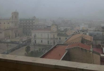 Temporale nel Siracusano, ad Avola scende pure la nebbia