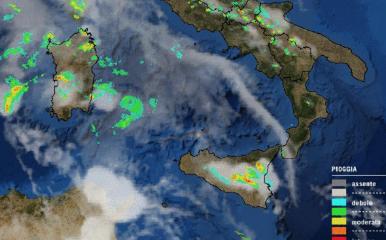 Maltempo, domani previsti temporali in Sicilia e Sardegna