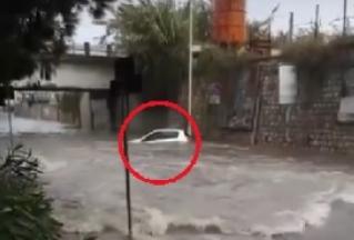 Temporale a Bagheria, auto in trappola nel sottopasso: salvati coniugi