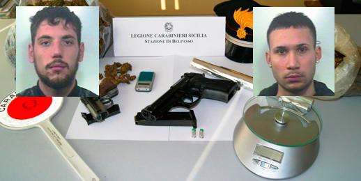 Armati rapinano tabaccherie a Belpasso: in casa un chilo di droga